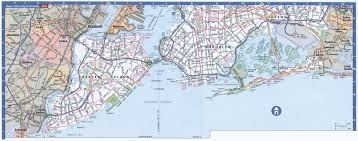 Nyc Subway Map Brooklyn by Large Detailed Road Map Of Staten Island Brooklyn And Queens