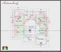 In Ground House Plans Kerala House Plan 2 Bedroom House Plans Kerala Style 2 Bedroom House