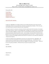 awesome collection of sample cover letter for customer