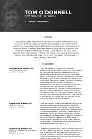 Maintenance Supervisor Resume Template Maintenance Technician Resume Samples Visualcv Resume Samples