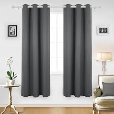 grey blackout curtains amazon com