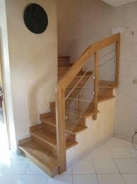 garde corps bois escalier interieur garde corps bois et verre à marseille par menuiserie md menuiserie