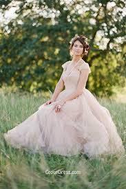 blush wedding dress with sleeves cap sleeve neck blush fall wedding dress groupdress