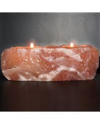 himalayan light salt crystal l big deal on himalayan rock salt natural crystal dual candleholder