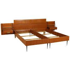 Brass Double Bed Frame Teak Veneer Metal Glass Brass Double Bed By Silvio Cavatorta