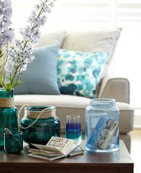 blue coffee table decor ideas spring summer interior trends 2015