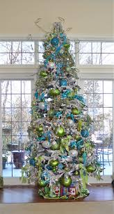 baby nursery scenic modern christmas magic blue green red tree