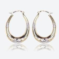 9ct gold earrings 9ct gold and silver bonded earrings