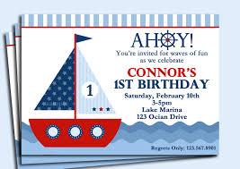 First Birthday Invitation Cards Templates Free Nautical First Birthday Invitations Graduations Invitations