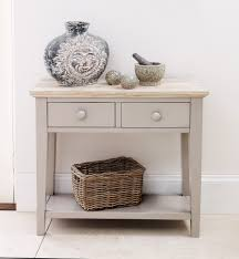 Oak Console Table With Drawers Florence Console Table Stunning Kitchen Hall Table 2 Drawers And