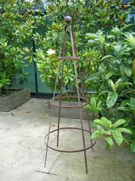 classic garden obelisk support 4 plants sturdy re bar steel