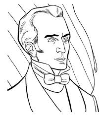 james k polk 11th president coloring pages president day cartoon