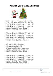 8 free esl we wish you a merry worksheets
