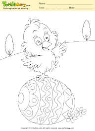 easter egg and chicken coloring sheet turtle diary