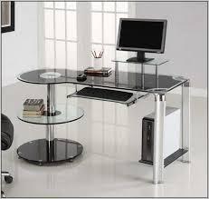 Black Glass Computer Desks For Home Excellent Glass Corner Computer Desk Ikea 36 For Your Online With