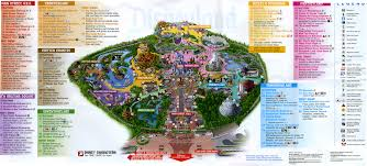 Disney Florida Map by Theme Park Brochures Disneyland Theme Park Brochures
