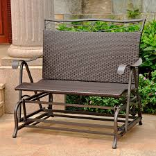 All Weather Wicker Loveseat Loveseat Glider Plans For Outdoor Home Ideas Magazine