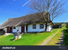traditional house village nowica beskid niski stock photo