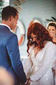 moby whale beach wedding polka dot bride