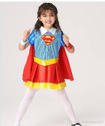 Superman Toddler Halloween Costume 2017 Beautiful Hero Movie Superman Costumes Kids Girls Cosplay