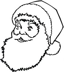 santa sleigh colouring pages coloring printable face santa