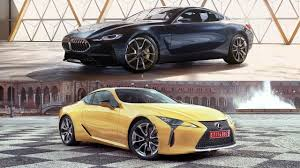 lexus lc luxury coupe 2018 bmw concept 8 series vs 2018 lexus lc 500 coupe who the