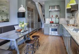contemporary renovated kitchen in old victorian house