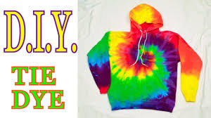 diy tie dye rainbow spiral hooded sweatshirt tutorial 19 youtube