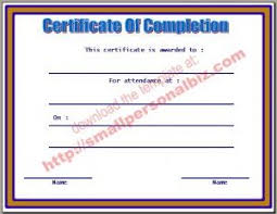 25 ide terbaik certificate of completion template di pinterest
