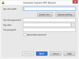 create apk generating a signed release apk file in android studio techotopia