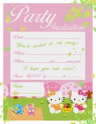 Hello Kitty Birthday Invitation Card Pretty Practical Mom Free Printable Hello Kitty Invitations