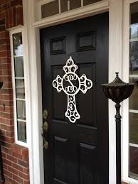 Crosses Home Decor Monogram Wreath Cross Monogram Door Hanger Monogrammed