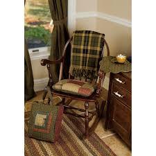 Rocking Chair Cushion Sets Tea Cabin Chair Pad Patchwork 15x15