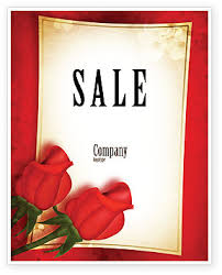roses for sale roses card sale poster template in microsoft word publisher
