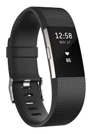 fitbit charge 2 heart rate plus fitness wristband black small