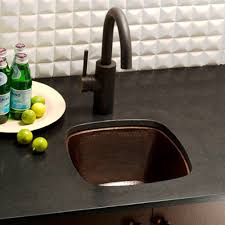 Rincon Copper Bar  Prep Sink Native Trails - Square sinks kitchen