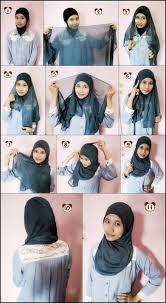 tutorial hijab pashmina tanpa dalaman ninja tutorial hijab segi empat tanpa ciput cara memakai kerudung segi