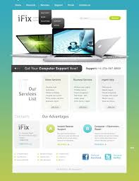 Computer Repair Website Template 42653