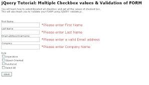 javascript tutorial demo jquery tutorial demo select all checkboxes validate form