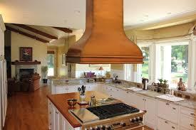 Kitchen Island Range Fabulous Copper Range Hood Style Above Modern Wooden Kitchen