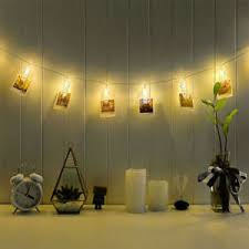 string lights with picture clips 3m 20 led card picture photo clips pegs warm white string light l