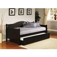 Black Daybed With Trundle Staci Daybed With Trundle Black Walmart