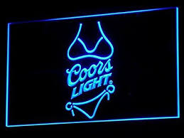coors light sign amazon amazon com coors light beer bar pub led neon sign man cave