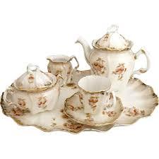 antique porcelain tea set petit de jeurner austria c 1880s