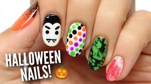 5 last minute halloween nail art designs youtube