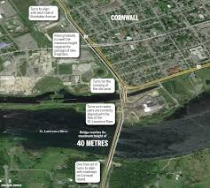 St Lawrence River Map Built For An Unrealized Canadian Dream Cornwall Standard Freeholder