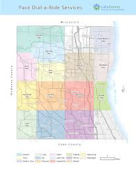 Geneva Illinois Map by Pace Dial A Ride Services Lake County Il