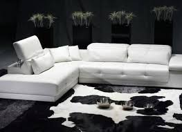 Modern White Bonded Leather Sectional Sofa 2315 Modern White Leather Sectional Sofa Sofas 4085 With Recliner