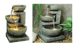solar fountains with lights 15 self contained water features solar powered fountains