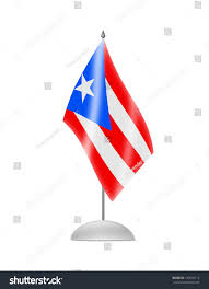 Puerto Rico Flag Puerto Rico Flag Table Flag Isolated Stock Illustration 135670712